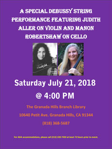 Saturday, July 21st at 4:00 PM Granada Hills Library